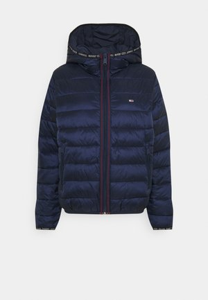QUILTED TAPE HOODED JACKET - Winter jacket - twilight navy