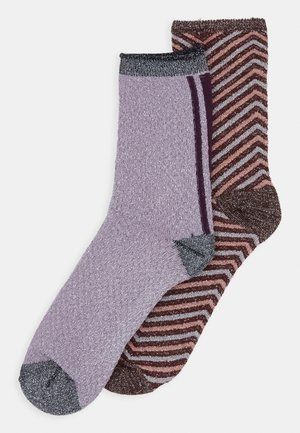 TWISTY DARYA SOCK 2 PACK - Socks - fudge