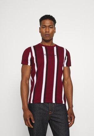 VERT STRIPE MENSWEAR - Print T-shirt - burgundy