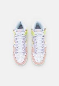 Nike Sportswear - DUNK  - Sneakers hoog - white/cashmere/light lemon twist/pure violet/pale coral - 5