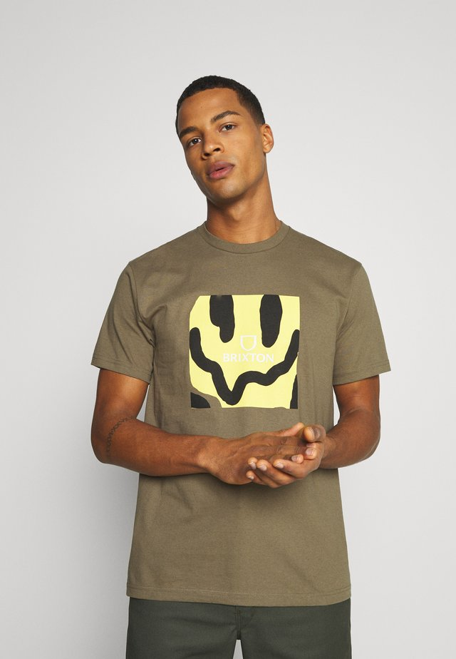 MELTER SQUARE - Print T-shirt - military olive