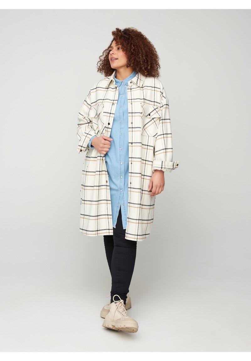 Zizzi - Classic coat - white