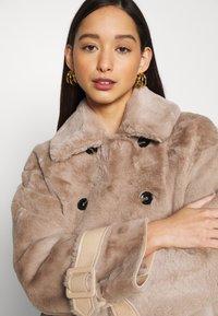 Topshop - REVERSIBLE COAT - Classic coat - mink - 3