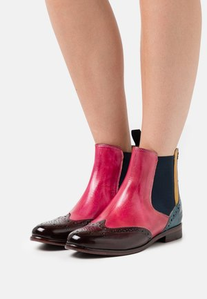 SELINA 6 - Ankle boots - mulberry/pink indy/yellowice lake/navy/rich tan