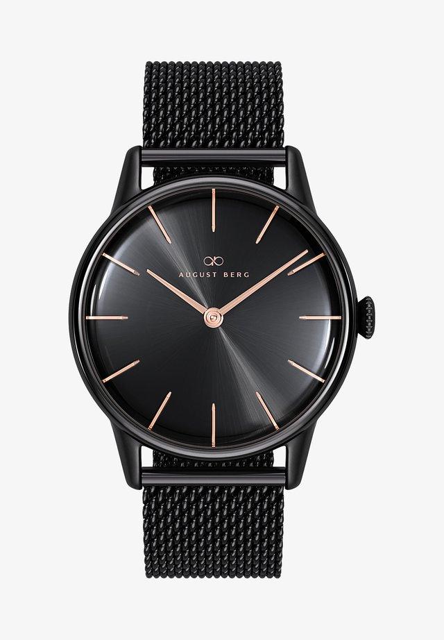 UHR SERENITY NOIR BLACK BLACK MESH 32MM - Horloge - sunray black