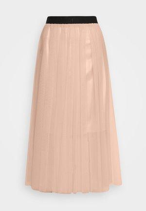 RINANA - Áčková sukně - nude