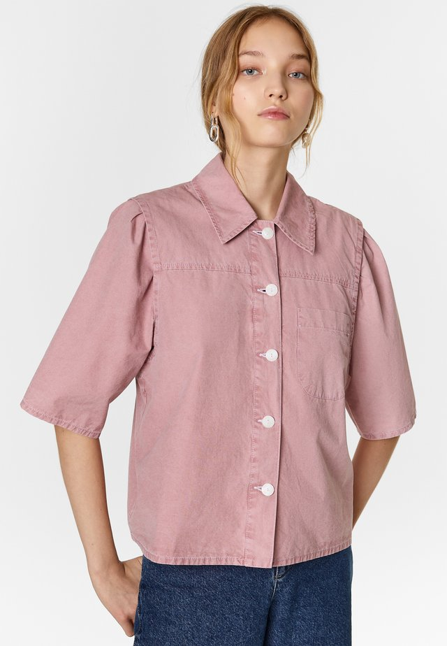 BIMBA Y LOLA SHORT PINK SHIRT - Overhemdblouse - pink