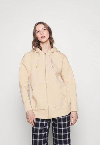 Zip-up sweatshirt - beige dusty light