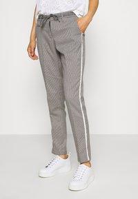 Opus - MORIEL PEPITA - Trousers - iron grey melange - 0