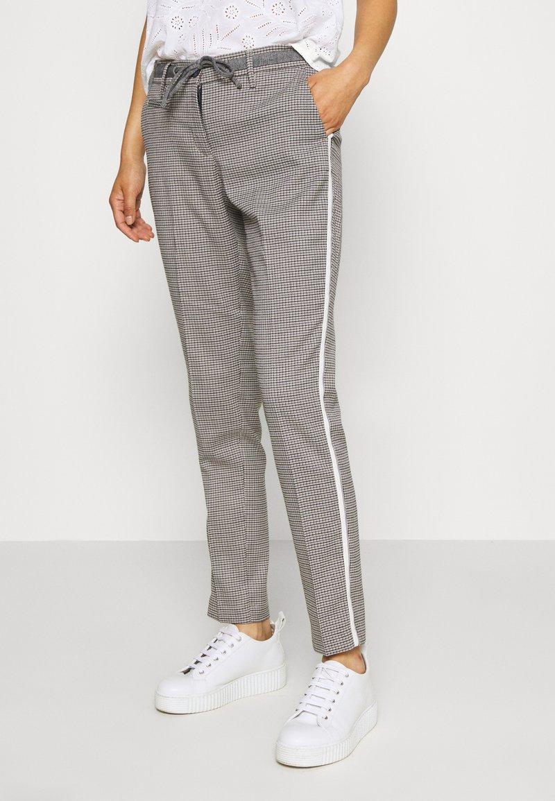 Opus - MORIEL PEPITA - Trousers - iron grey melange