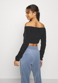 adidas Originals - CROP - Long sleeved top - black - 2