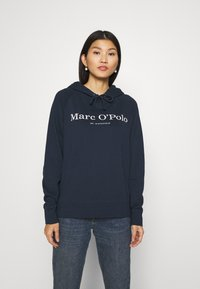 Marc O'Polo - RAGLAN SLEEVE HOODED - Hoodie - dark night - 0