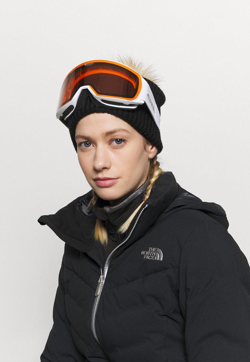 Alpina - NAKISKA UNISEX - Occhiali da sci - white/pink matt