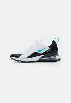 AIR MAX 270 G - Golf shoes - white/dusty cactus/black/metallic silver