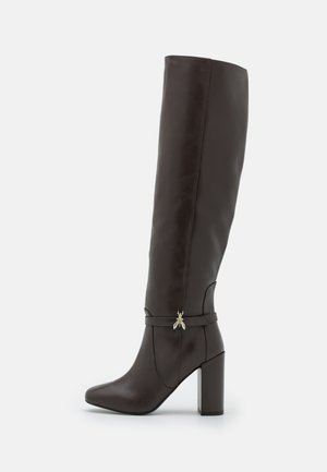 EXCLUSIVE BOOT - Overknee laarzen - ebony