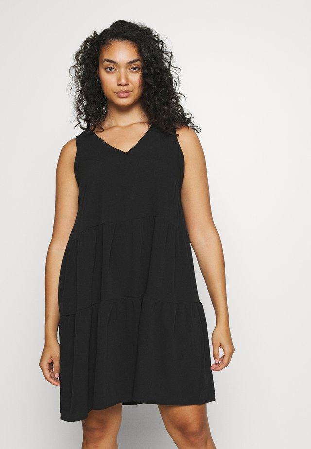 VMOLIVIA PEPLUM DRESS  - Vestito estivo - black