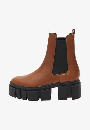 TRACTOR-I - Ankelboots - średni brązowy