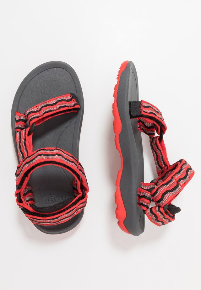 Walking sandals - kishi firey red