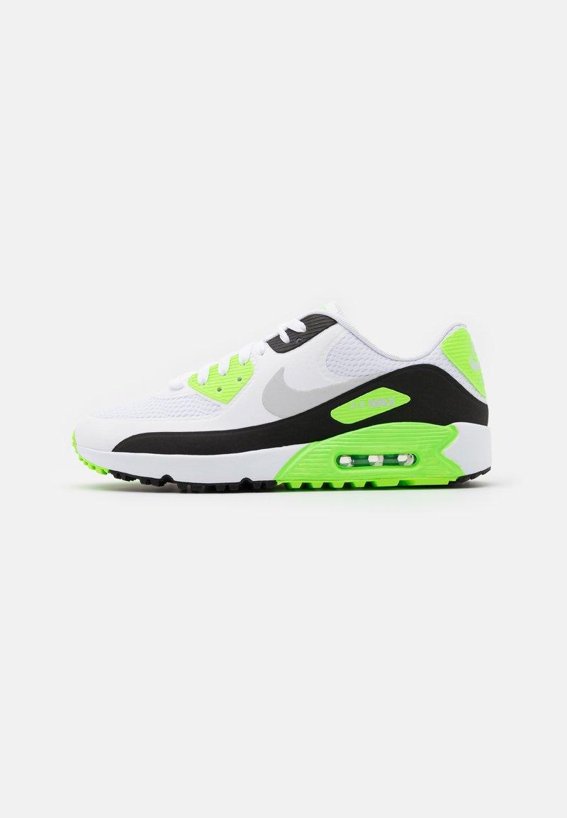 Nike Golf - AIR MAX 90 G - Golfskor - white/neutral grey/black/flash lime