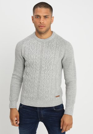 Pullover - mottled grey
