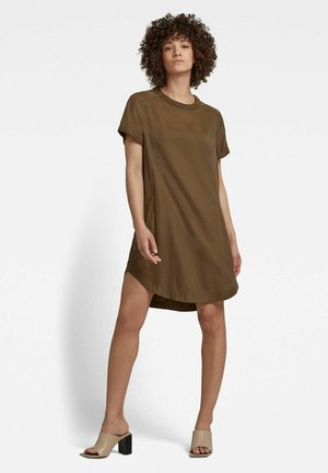 WOVEN TEE - Jersey dress - dark olive