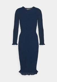 Never Fully Dressed Petite - SHEER SHIRRED MIDI DRESS - Maxi dress - navy - 0