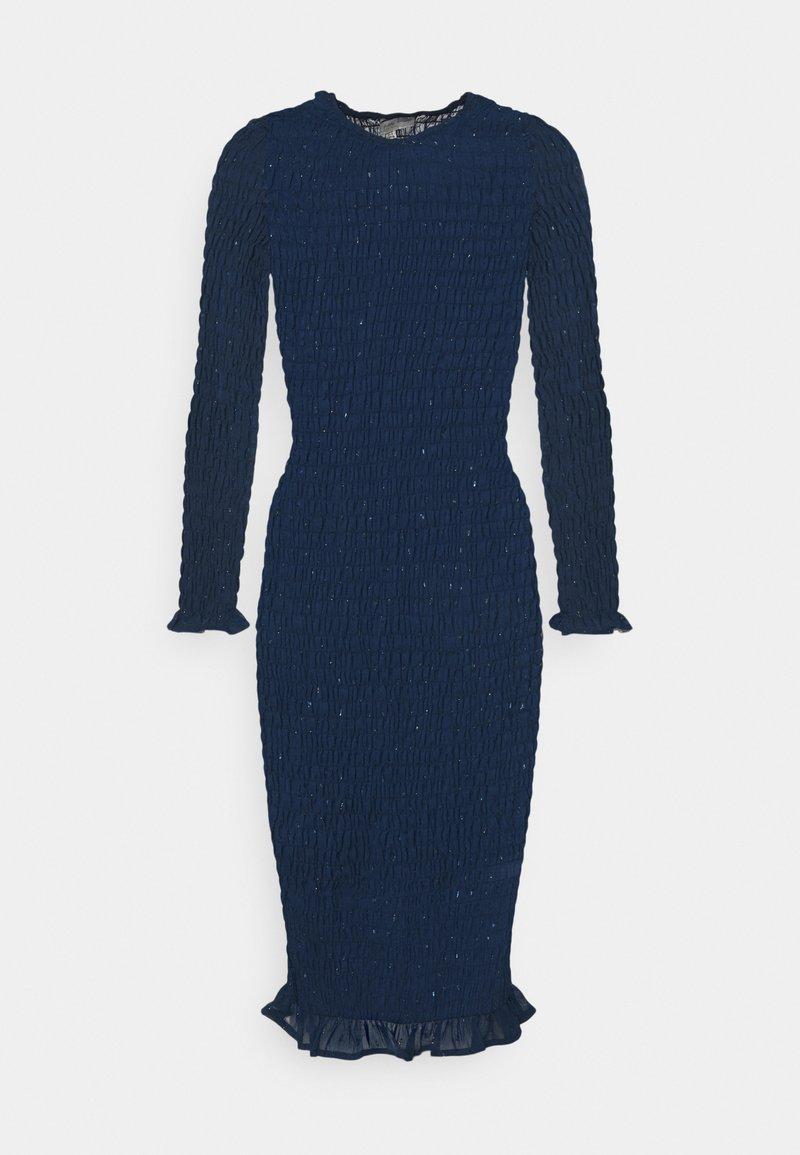 Never Fully Dressed Petite - SHEER SHIRRED MIDI DRESS - Maxi dress - navy