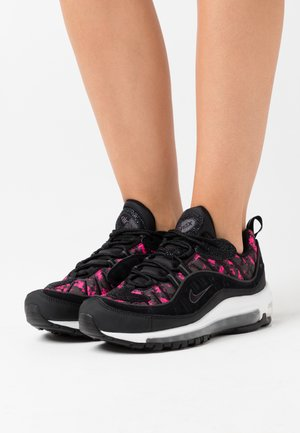 AIR MAX 98 PRM - Trainers - black/anthracite/hyper pink/white/racer blue