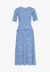 Never Fully Dressed - RUCHED FLORAL DRESS - Day dress - blue - 0