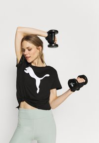 Puma - LOGO TEE - T-shirt imprimé - black - 3