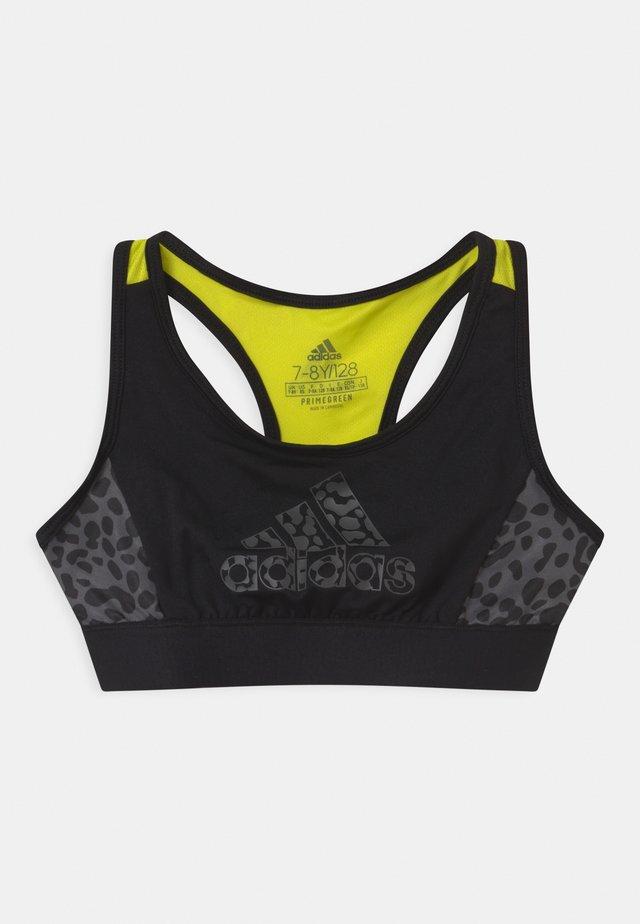 LEO - Soutien-gorge de sport - black/acid yellow/grey five