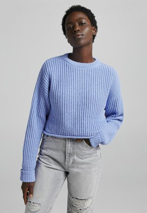 CHENILLE MIT RUNDAUSSCHNITT  - Stickad tröja - multi-coloured