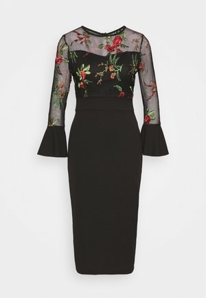 MIDI DRESS - Cocktail dress / Party dress - black