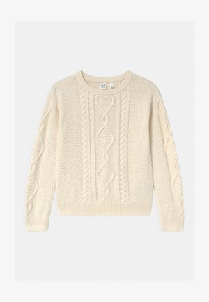 GIRL CABLE - Maglione - ivory frost