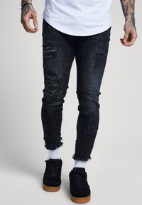 SIKSILK - RAW CUFF CROPPED - Jeans Skinny Fit - black - 0