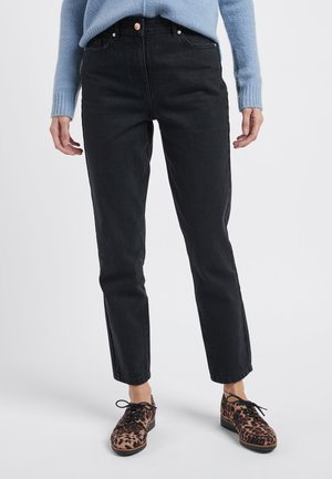 WASHED BLACK MOM NON-STRETCH JEANS - Straight leg jeans - black