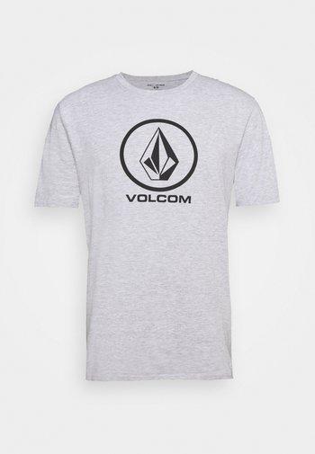 CRISP STONE BSC SS - Print T-shirt - heather grey