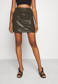 Molly Bracken - LADIES SKIRT - Mini skirt - khaki - 0