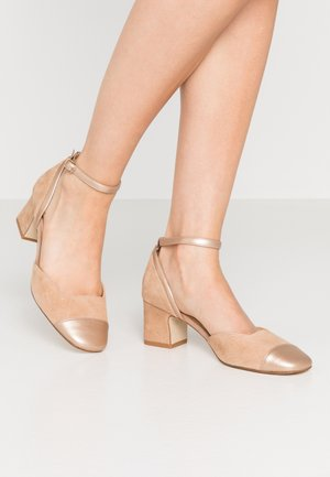 LEATHER PUMPS - Escarpins - nude