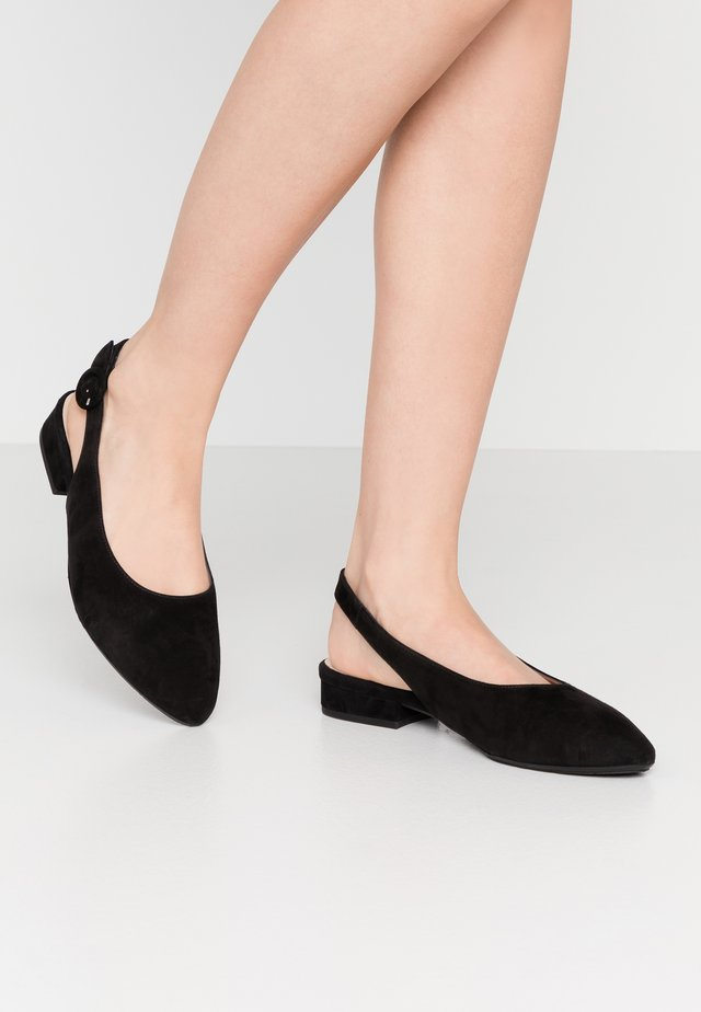 WIDE FIT FASELLE - Slingback ballet pumps - schwarz