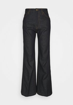 HIGH WAIST  - Flared Jeans - raw indigo