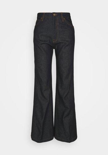 HIGH WAIST  - Flared Jeans - raw indigo