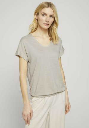 Print T-shirt - linen offwhite structure