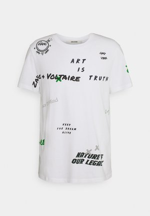 TED MULTI TAG - Print T-shirt - blanc