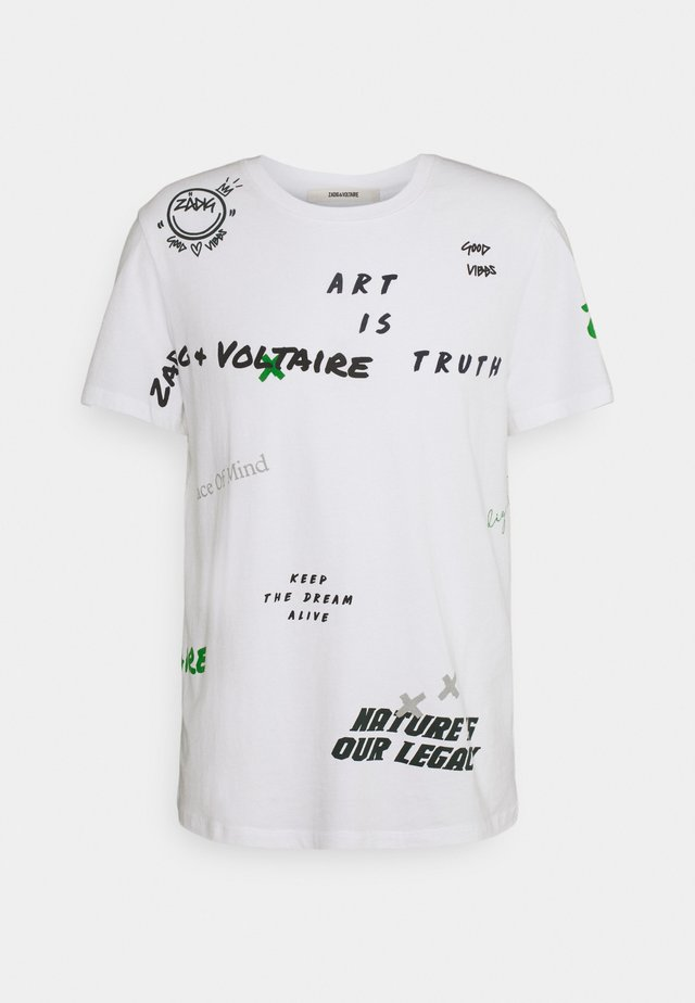 TED MULTI TAG - T-shirts med print - blanc