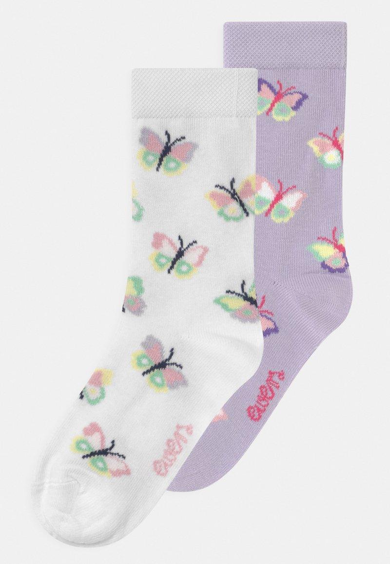 Ewers - BUTTERFLIES 2 PACK - Socks - flieder/white