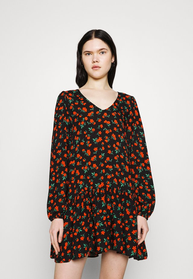 DITSY DRESS - Korte jurk - black