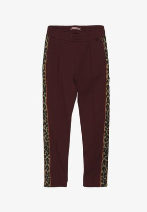 WITH CONTRAST SIDE PANELS - Trousers - plum