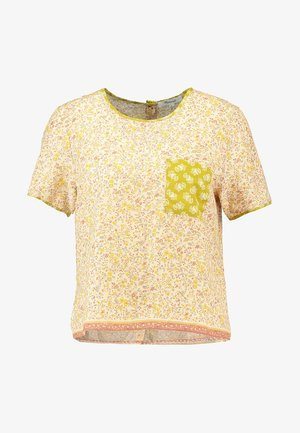CREW NECK BUTTON BACK - Bluse - golden meadow