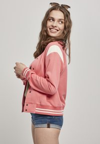 Urban Classics - LADIES INSET COLLEGE JACKET - Zip-up hoodie - palepink/whitesand - 2